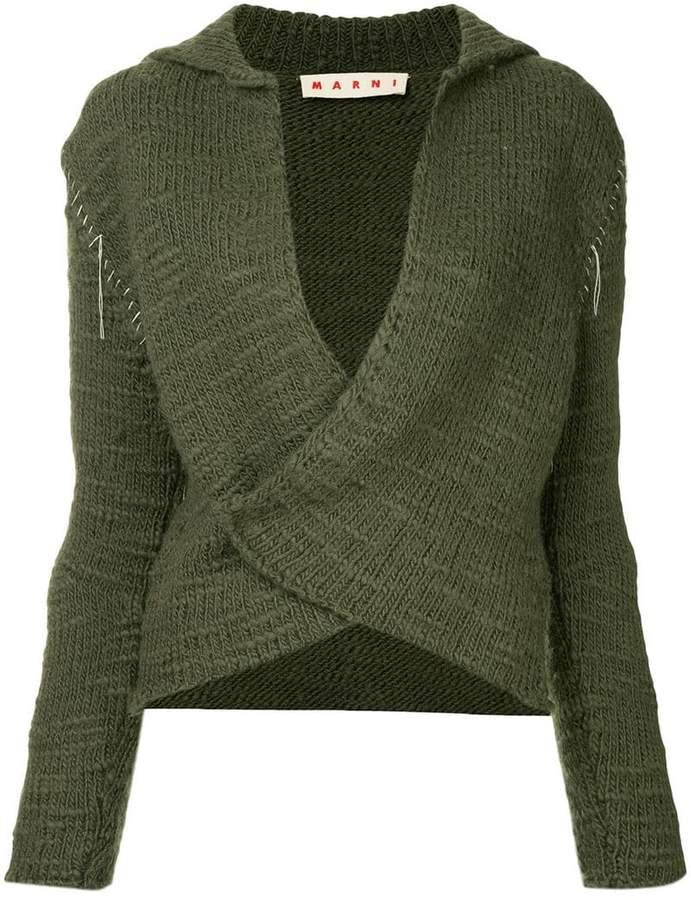 stitched sleeve cardigan