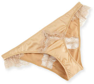 Kiki de Montparnasse Sensual Lace-Trim Silk Bikini Briefs