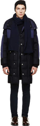 Moncler Navy Cashmere Scarf