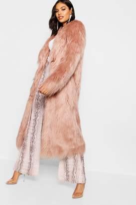 boohoo Maxi Mongolian Faux Fur Coat