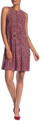 Nine West Sleeveless Trapeze Print Dress