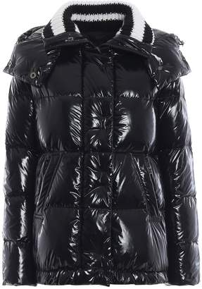 Ermanno Scervino Striped Collar Padded Jacket