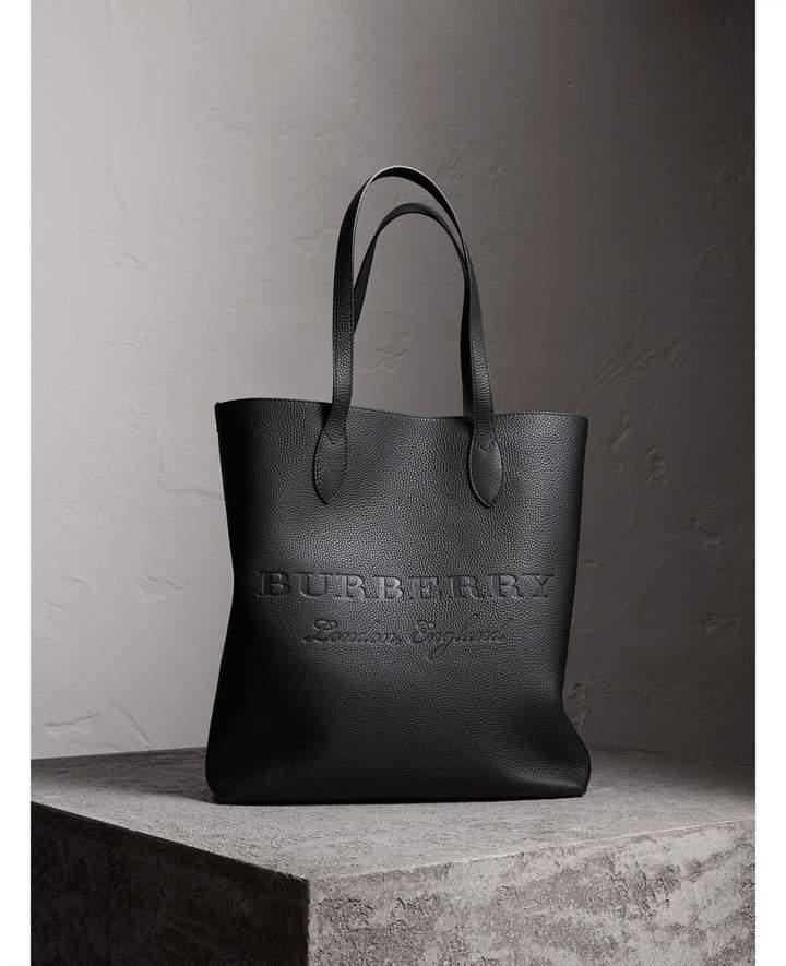 Burberry Medium Embossed Leather Tote
