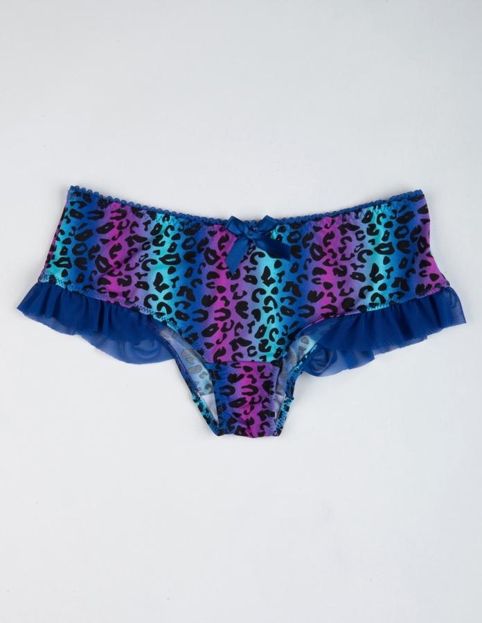 Satin Leopard Print Panties