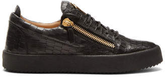 Giuseppe Zanotti Black Croc May London Sneakers
