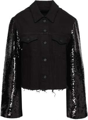 RtA Haylee Sequin-embellished Denim Jacket