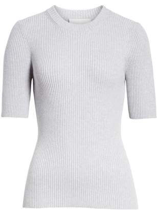 3.1 Phillip Lim Ribbed Short Sleeve Sweater