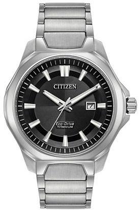 CitizenCitizen Ti+IP Eco-Drive Titanium Analog Bracelet Watch