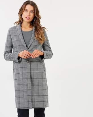 DECJUBA Tamara Check Crombie Coat