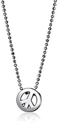 Alex Woo Little Faith Sterling Peace Sign Pendant Necklace
