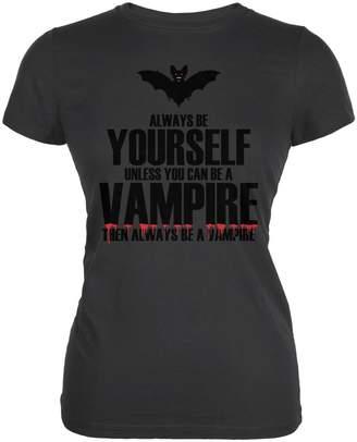 Old Glory Halloween Always Be Yourself Vampire Asphalt Juniors Soft T-Shirt - 2X-Large