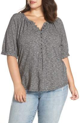 Lucky Brand Space Dye Henley Top