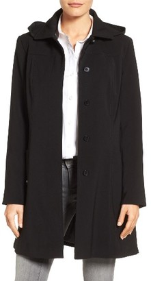 Women's Gallery Pickstitch Nepage Walking Coat With Detachable Hood $258 thestylecure.com