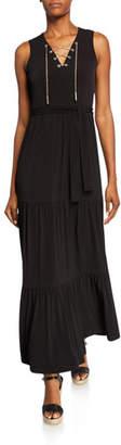 MICHAEL Michael Kors Chain Lace-Up Sleeveless Maxi Dress