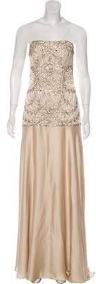 Sue Wong Embellished Maxi Dress w/ Tags