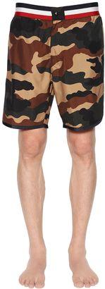 Camouflage Nylon Swim Shorts $270 thestylecure.com