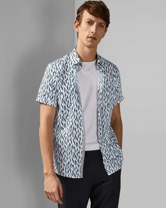 Ted Baker WOOLRUS Cotton printed short sleeved shirt