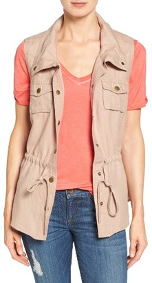Women's Kut From The Kloth Michi Linen Snap Front Vest $88 thestylecure.com