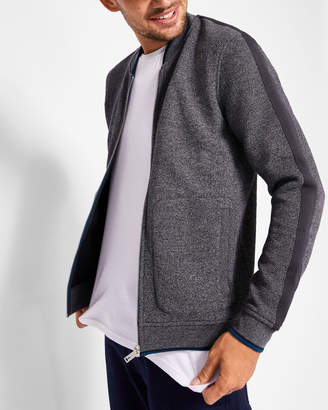 Ted Baker WHATTS Striped trim textured bomber jacket