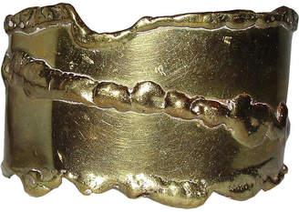 One Kings Lane Vintage Brutalist Brass Cuff - Treasure Trove NYC
