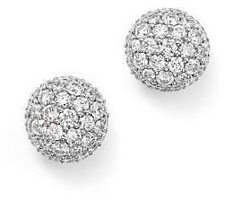 Bloomingdale's Diamond Ball Stud Earrings in 14K White Gold, 1.10 ct. t.w. - 100% Exclusive