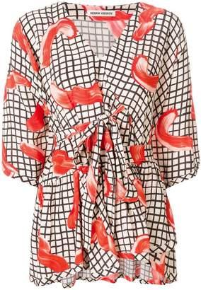 Henrik Vibskov Grace print flared blouse