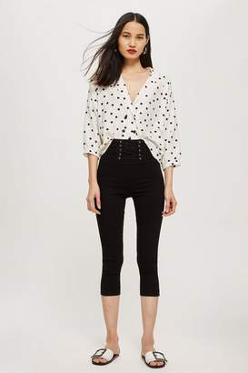Topshop Corset Cropped Jamie Jeans