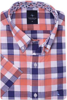 Tailorbyrd Men's Plaid Short-Sleeve Sport Shirt