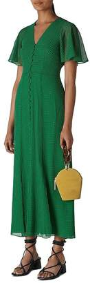 Whistles Cecily Checked Capelet Maxi Dress