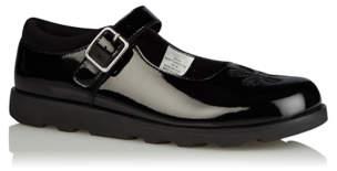 3d6d5ed6901 George Girls Black Patent Glittering Flower Ballet School Shoes