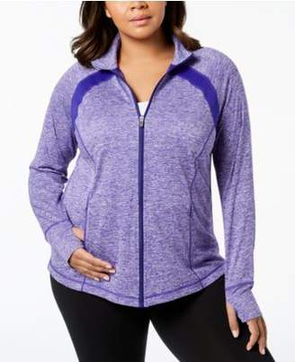 Macy's Ideology Plus Size Rapidry Performance Zip Jacket, Created for