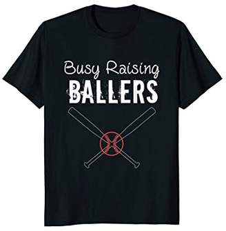 Baseball Quote Shirts For Women - Busy Raising Ballers