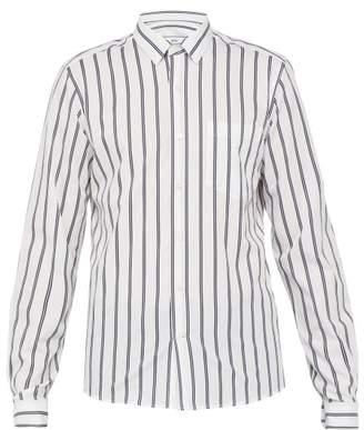 Ami Striped Cotton Shirt - Mens - White Multi