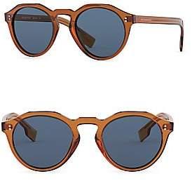 Burberry Men's 48MM Solid Round Sunglasses