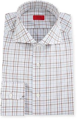 Isaia Check Cotton Dress Shirt