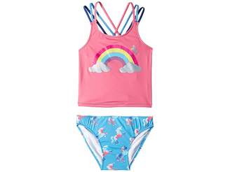 Hatley Rainbow Unicorns Sporty Tankini Set (Toddler/Little Kids/Big Kids)
