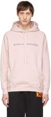 Bianca Chandon Pink Handwritten Logotype Hoodie