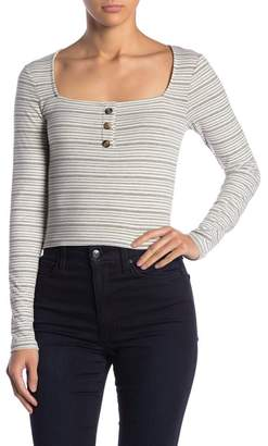 Ten Sixty Sherman Striped Square Neck Long Sleeve tee