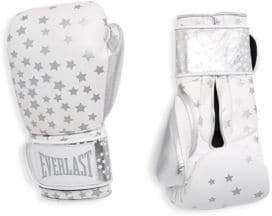 Everlast Star-Print Leather Gloves - Silver