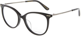 Bottega Veneta Round Plastic/Metal Optical Glasses