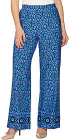 C. Wonder Petite Engineered Floral Tile PrintKnit Pants