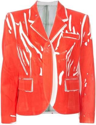 Rohka boxy printed blazer