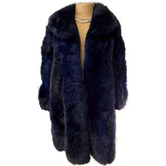 Parallèle Ungaro Blue Fur Coat for Women Vintage