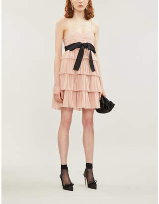 RED Valentino Tiered crepe mini-dress