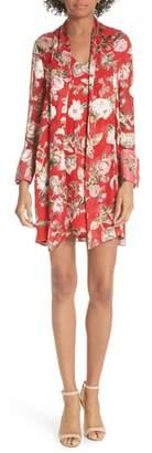 Alice + Olivia Gwenda Floral Paneled Tunic Dress
