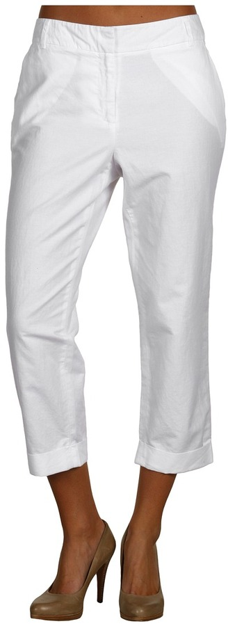 Kenneth Cole New York - Cropped Soft Pant (White) - Apparel