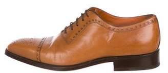 Sergio Rossi Brogue Leather Oxfords
