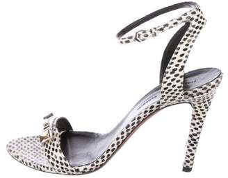 Proenza Schouler Snakeskin Pointed-Toe Sandals