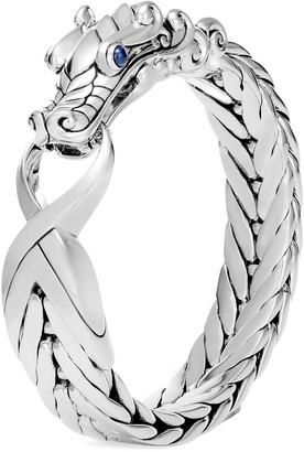 John Hardy 'Legends Naga' sapphire silver extra large bracelet