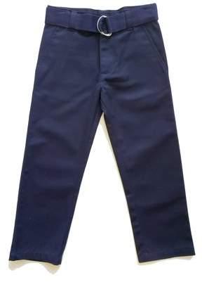 Genuine School Uniform Genuine Uniform Boys Belted Flat Front Pant